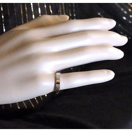 Cartier-cartier 18K 750 Taille de bague de mariage Love Band 57-Argenté