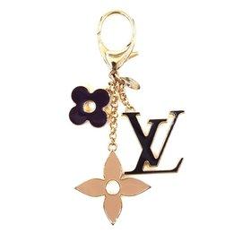 Louis Vuitton-Porte-clés en émail multicolore émaillé doré Louis Vuitton-Multicolore