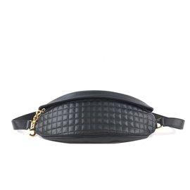 Céline-Céline Bumbag Black calf leather Leather-Black