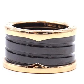 Autre Marque-Bvlgari 18K 750 Spirale en céramique noire B.Zéro1 size 51 Bague-Noir