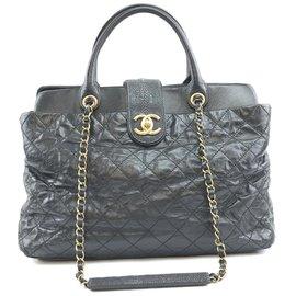 Chanel-Chanel Bindi Cuir de veau noir Cuir-Noir