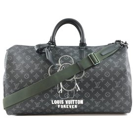 Louis Vuitton-Louis Vuitton Keepall 50 Bandouliere Black Vivienne Eclipse-Schwarz