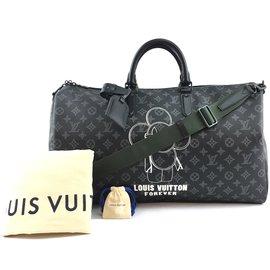 Louis Vuitton-Louis Vuitton Keepall 50 Bandouliere Black Vivienne Eclipse-Preto