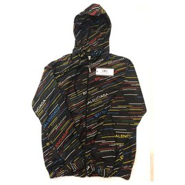 Balenciaga-Balenciaga - Rainbow Windbreak Jacket-Black