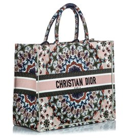 Dior-Bestickte Büchertasche Dior Brown-Braun,Mehrfarben ,Beige