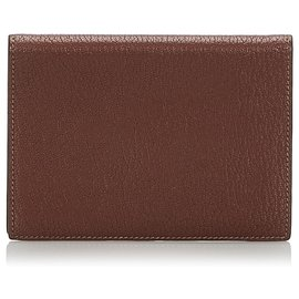 Hermès-Hermes Brown Leather Passport Cover-Brown