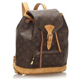 Louis Vuitton-Louis Vuitton Brown Monogram Montsouris MM-Brown
