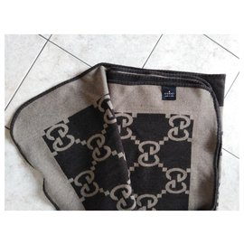 Gucci-Blanket blanket-Brown,Light brown