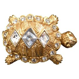 Christian Dior-Pins & brooches-White,Golden