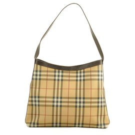 Burberry-Burberry Nova Check Shoulder Bag-Brown