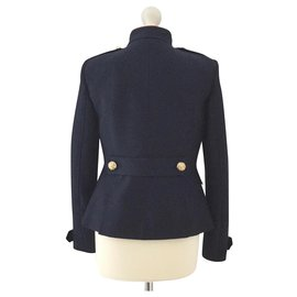 Burberry-Jackets-Navy blue