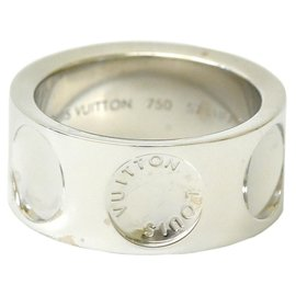 Louis Vuitton-Bague Louis Vuitton Petitburg Ring-Blanc