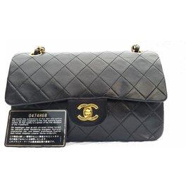Chanel-Classic Chanel Matelasse 2.55 sac à double rabat-Noir