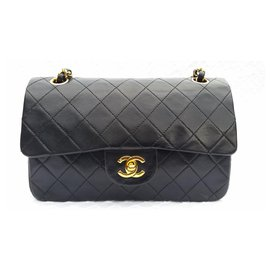 Chanel-Classic Chanel Matelasse 2.55 double flap bag-Black