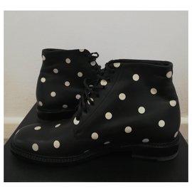 Saint Laurent-boots-Noir