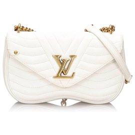 Louis Vuitton-Louis Vuitton Branco New Wave Chain Bag MM-Branco