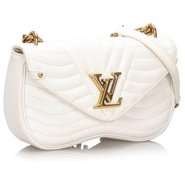 Louis Vuitton-Louis Vuitton White New Wave Chain Bag MM-White