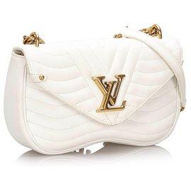 Louis Vuitton-Sac chaîne Louis Vuitton New Wave blanc MM-Blanc
