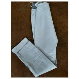 Escada-Pantalons en cuir-Autre