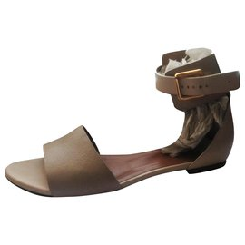 Chloé-Chloé sandals in nude colors with adjustable belt closure in good condition-Beige,Cream,Taupe