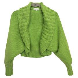 Céline-100% cashmere shrug-Green