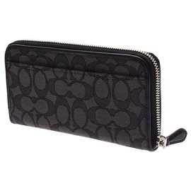 Coach-Coach Signature Zip Aroundpurse outlet-Black