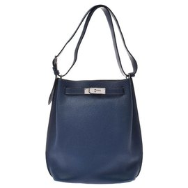 Hermès-Hermès So Kelly 22-Blue