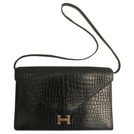 Hermès-Sac Lydie Hermes-Noir