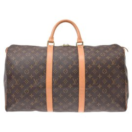 Louis Vuitton-Louis Vuitton Monogram Keepall 50-Marron