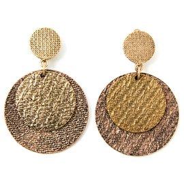 Yves Saint Laurent-GOLDEN COINS EARRINGS-Doré
