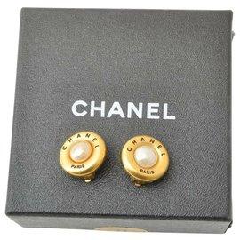 Chanel-Chanel Fake Pearl Clip-Doré