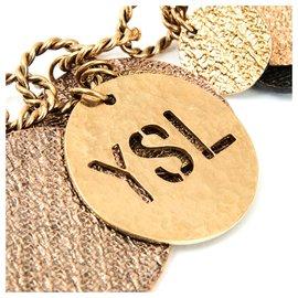Yves Saint Laurent-GOLDEN COINS NECKLACE-Doré