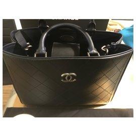 Chanel-Small shopping bag-Dark blue