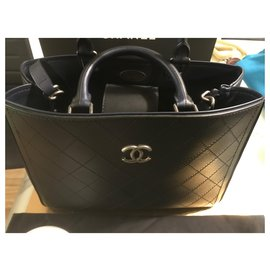 Chanel-Small shopping bag-Bleu foncé