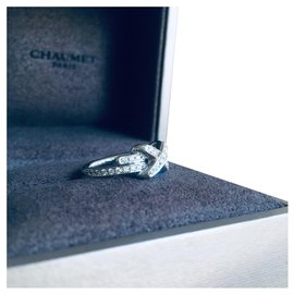 """Chaumet-Superb CHAUMET ring """"Games of links"""" paved with diamonds , Neuve-White"""
