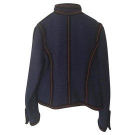 Chanel-Paris moscou-Preto,Vermelho,Azul escuro
