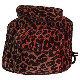 Sonia Rykiel-Backpacks-Leopard print