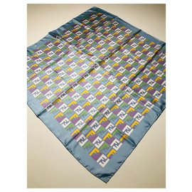 Fendi-Fendi pure silk scarf-Multiple colors