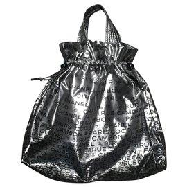 Chanel-Handbags-Black,Silvery
