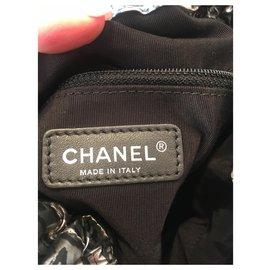 Chanel-Sacs à main-Noir,Argenté