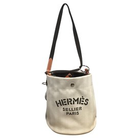 Hermès-Handbags-Brown,Beige