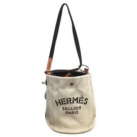 Hermès-Sacs à main-Marron,Beige