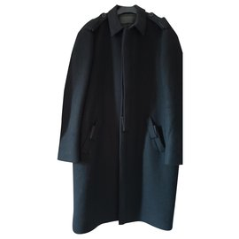 Salvatore Ferragamo-Men Coats Outerwear-Black