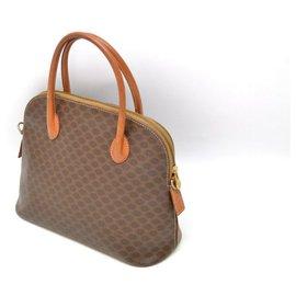 Céline-Céline Macadam Hand Bag-Brown