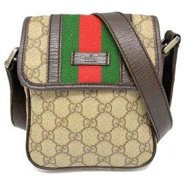 Gucci-Gucci Sherry Line GG Shoulder Bag-Brown