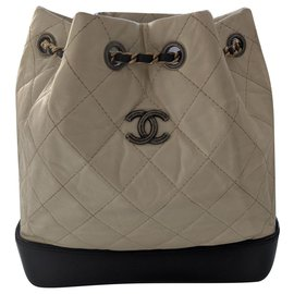 Chanel-Gabrielle Backpack Small-White