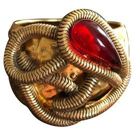 Oscar de la Renta-Bracelets-Rouge,Doré