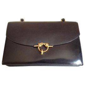 Hermès-Handbags-Dark blue