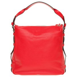 """Lancel-Lancel messenger bag model """"Jo-Besace"""" in red grained leather, new condition!-Red"""