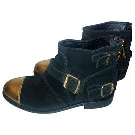Balmain pour H&M-Boots noires neuves-Noir